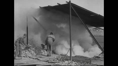 Early-Scenes-Of-Industrial-America-Circa-1918-With-Brickmaking-In-A-Mine-Environment