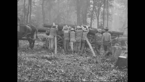 A-Lumber-Camp-In-America-Circa-1918