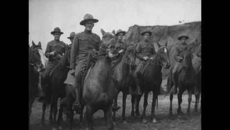 Good-Shots-Of-Us-Army-Horsemen-Preparing-For-Battle-In-World-War-One
