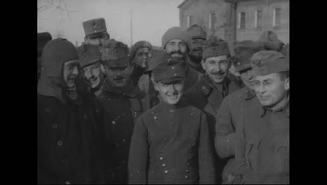 The-Russian-Army-Poses-For-The-Camera-In-Vladivostok-Siberia-Russia-In-1918