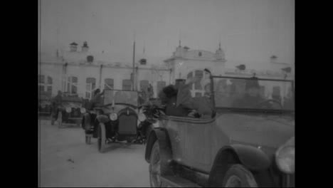 A-Delegation-Of-Cars-And-Horses-Follow-An-American-Visit-To-Siberian-Russia-In-1918