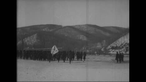 The-Russian-Army-Marches-In-Formation-Near-Vladivostok-Siberia-Russia-From-1918-2
