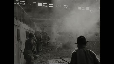 Us-Soldiers-Fight-To-Take-Manila-In-The-Philippines-In-World-War-Ii-Including-Battling-Inside-A-Baseball-Stadium