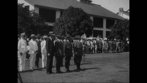 Charles-Lindbergh-Reviews-The-Troops-At-Fort-Amador-And-Famed-Mexican-Aviator-Emilio-Carranza-Arrives-In-The-Us-In-1928