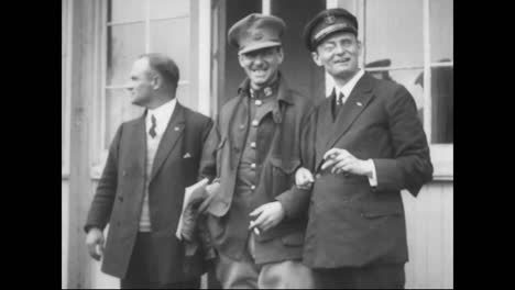 The-Famed-Bremen-Flyers-Arrive-In-1928-On-The-Shores-Of-America-To-Great-Fanfare-And-Are-Greeted-By-Charles-Lindbergh
