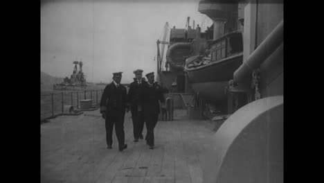 King-George-V-Converses-With-His-Fighting-Admiral-Sir-David-Beatty-On-The-Deck-Of-The-Queen-Elizabeth