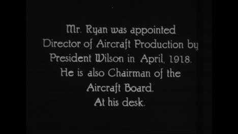 Se-Perfilan-Funcionarios-Prominentes-En-La-Administración-Del-Presidente-Woodrow-Wilson-De-1917-A-1921-Incluido-El-Director-De-Producción-De-Aviones-John-D-Ryan