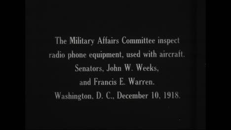 The-Military-Affairs-Committee-Inspects-Radio-Teléfono-Equipment-Senators-John-Weeks-And-Francis-Warren