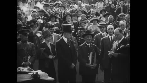 Calvin-Coolidge-And-Other-Cabinet-Officials-Speak-Before-A-Large-Crowd-And-Women-Are-Given-The-Right-To-Vote-In-1919
