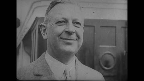 Secretary-Of-Labor-James-Davis-Sails-For-Central-America-In-1926
