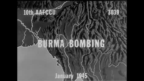 Us-Planes-Bomb-Japanese-Forward-Bases-In-Mogok-And-Mankat-Burma-In-1945