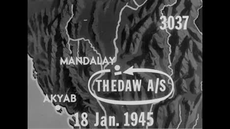 Us-Planes-Bomb-Japanese-Forward-Bases-In-Thedaw-Airstrip-Burma-In-1945
