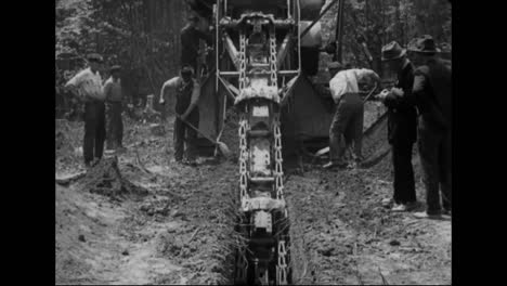 1914-Steam-Shovels-Dig-A-Road-Or-Railroad-Through-A-Rural-Area-Using-Heavy-Manual-Labor