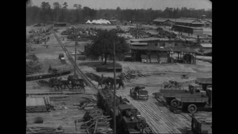 In-1914-A-Wooden-Army-Base-In-Built-In-The-Forest-At-Camp-Humphreys-Virginia