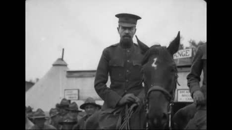 Secretary-Of-War-Baker-And-Colonel-Cornelius-Vanderbilt-Dedicate-Completed-Army-Barracks-At-Camp-Humphreys-Virginia