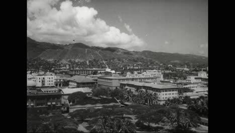 Escenas-De-Honolulu-Hawaii-En-1940-Incluye-Una-Descripción-General-De-Los-Edificios-Importantes-De-La-época.