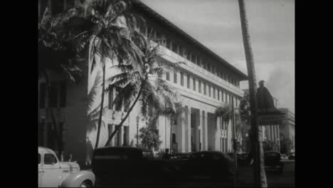 Scenes-Of-Honolulu-Hawaii-In-1940-Includes-An-Overview-Of-Significant-Buildings-Of-The-Time-1