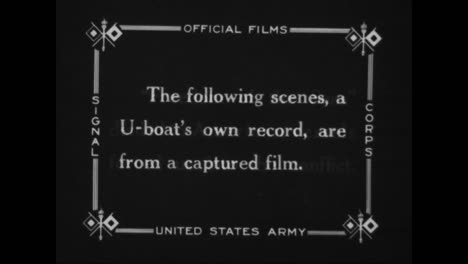 American-Ships-Are-Sunk-By-German-U-Boats-In-World-War-One-In-This-Captured-German-War-Film