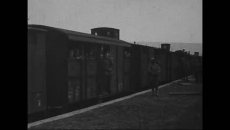 Troop-Trains-Carry-American-Soldiers-Into-Battle-In-World-War-One