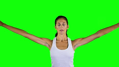 Woman-Doing-Yoga-Green-Screen-00