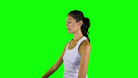Woman-Doing-Yoga-Green-Screen-03