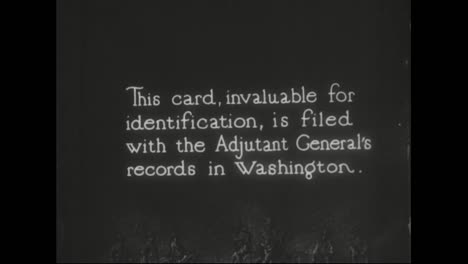 Draft-Cards-Are-Issued-To-Young-Men-In-World-War-One