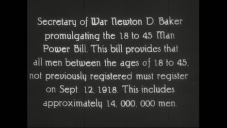 Secretary-Of-War-New-Ton-Baker-Signs-Bill-Which-Makes-Young-Men-Eligible-For-The-Draft-In-World-War-One