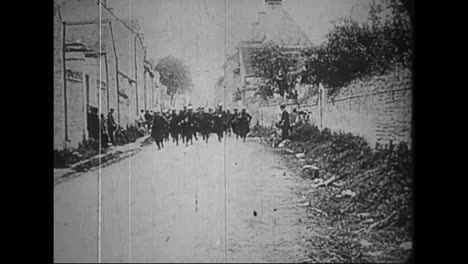 Captured-German-War-Film-From-World-War-One-Shows-French-And-German-Troops-Battling-For-A-Belgian-Town
