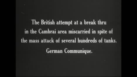 Película-De-Guerra-Alemana-Capturada-De-La-Primera-Guerra-Mundial-Muestra-Tanques-Británicos-Capturados-En-Cambrai