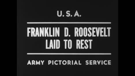 El-Funeral-Del-Presidente-Estadounidense-Franklin-Roosevelt-En-1945