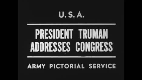 Präsident-Truman-Spricht-Vor-Kongress-über-Den-Zweiten-Weltkrieg