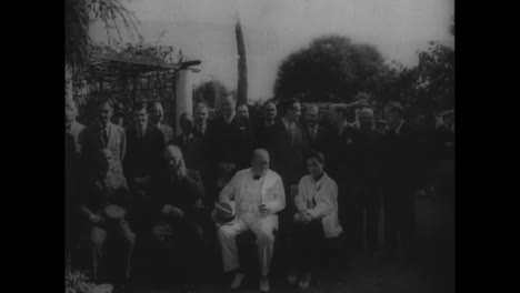 Us-President-Franklin-Roosevelt-Appears-With-Winston-Churchill-Joseph-Stalin-And-Chaing-Kai-Shek-In-Cairo-During-World-War-Two