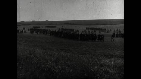 Army-Bayonette-Squads-From-France-And-Belgium-March-In-1913
