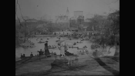 Central-Park-En-La-Ciudad-De-Nueva-York-En-La-Década-De-1910-