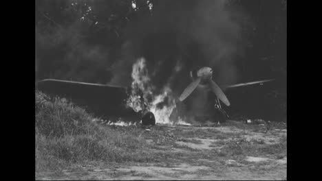 Soldiers-Burn-The-Destroyed-Wreckage-Of-Planes-And-Other-War-Materials-From-The-Pacific-Islands-During-World-War-Two