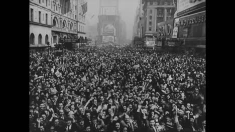 Crowds-Of-Americans-Celebrate-As-World-War-Two-Comes-To-An-End