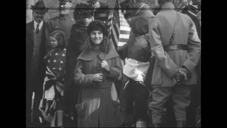 Washington-Dc-School-Children-Honor-French-World-War-One-Hero-Marshall-Ferdinand-Foch-In-1921