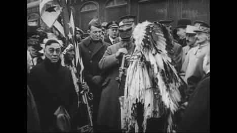 American-Indians-Greet-World-War-One-Leaders-In-1921