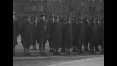 Students-Graduate-From-The-Us-Army-Signal-Corps-At-Yale-University-In-1918-And-A-360-Degree-Pan-Of-Camp-Meade