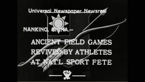 Ancient-Field-Games-And-Sports-Are-Revived-By-Chinese-Athletes-In-1933