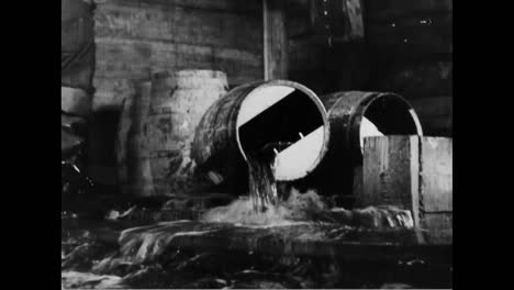 Federal-Agents-Destroy-Barrels-Of-Alcohol-During-Prohibition