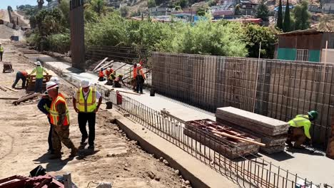 Border-Barrier-Construction-Site-Near-San-Diego-Conducted-By-54Th-Us-Army-Chief-Of-Engineers-Lt-Gen-Todd-Semonite-And-Usace-Commanding-General-California-July-9
