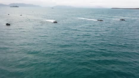 Forces-From-The-United-States-Australia-United-Kingdom-And-Japan-Commence-An-Amphibious-Beach-Assault-Exercise-At-King-S-Beach-In-Bowen-Queensland-July-22-2019