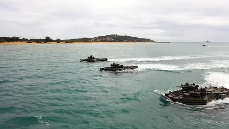 Armed-Forces-From-The-United-States-Australia-United-Kingdom-And-Japan-Commence-An-Amphibious-Beach-Assault-Exercise-At-King-S-Beach-In-Bowen-Queensland-July-22-2019