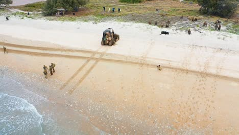 United-States-Australian-United-Kingdom-And-Japanese-Armed-Forces-Conduct-An-Amphibious-Beach-Assault-Exercise-At-King-S-Beach-In-Bowen-Queensland-July-22-2019