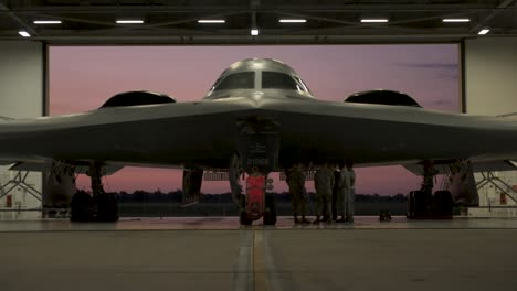 A-B2-Spirit-Stealth-Bomber-Is-Prepped-And-Takes-Off-From-Whiteman-Air-Force-Base-On-July-17-2019
