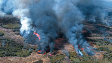 Aerials-Of-A-Prescribed-Burn-At-Merritt-Island-National-Wildlife-Reserve-2011