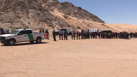 Group-Of-142-Immigrants-From-Central-America-Surrender-To-Border-Patrol-Agents-Near-San-Luis-Az