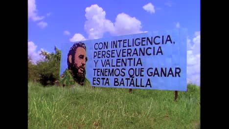 Propaganda-posters-along-the-highway-in-Cuba-in-the-1980s