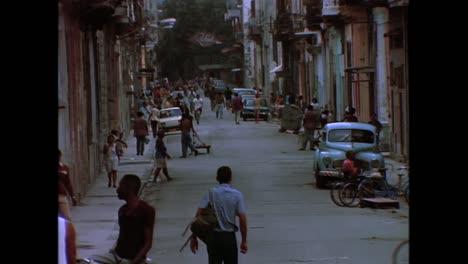 Verschiedene-Straßenszenen-In-Havanna-Cuna-In-Den-1980er-Jahren